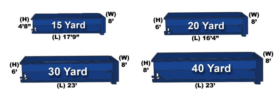dumpster container sizes